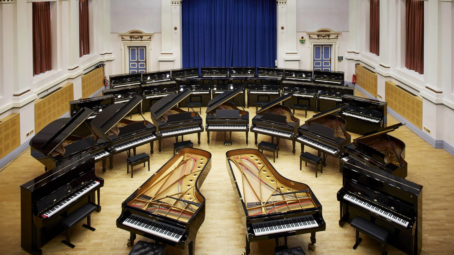 Steinway & Sons pianos at Leeds University